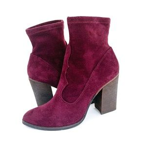 Dolce Vita Cammi Suede Sock Heeled Ankle Boots